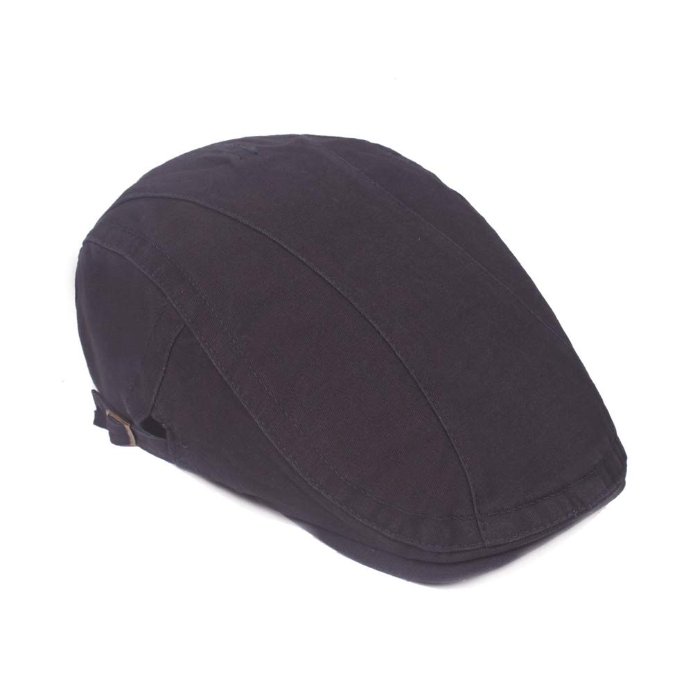 ZEVONDA Flat Caps Cotton Size Adjustable Hat Simple Hat for Unisex