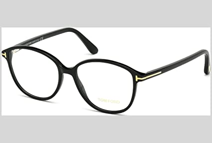 062381303f731 Tom Ford Montures de lunettes Pour Femme 5390 - 001  Shiny Black   Amazon.fr  Vêtements et accessoires
