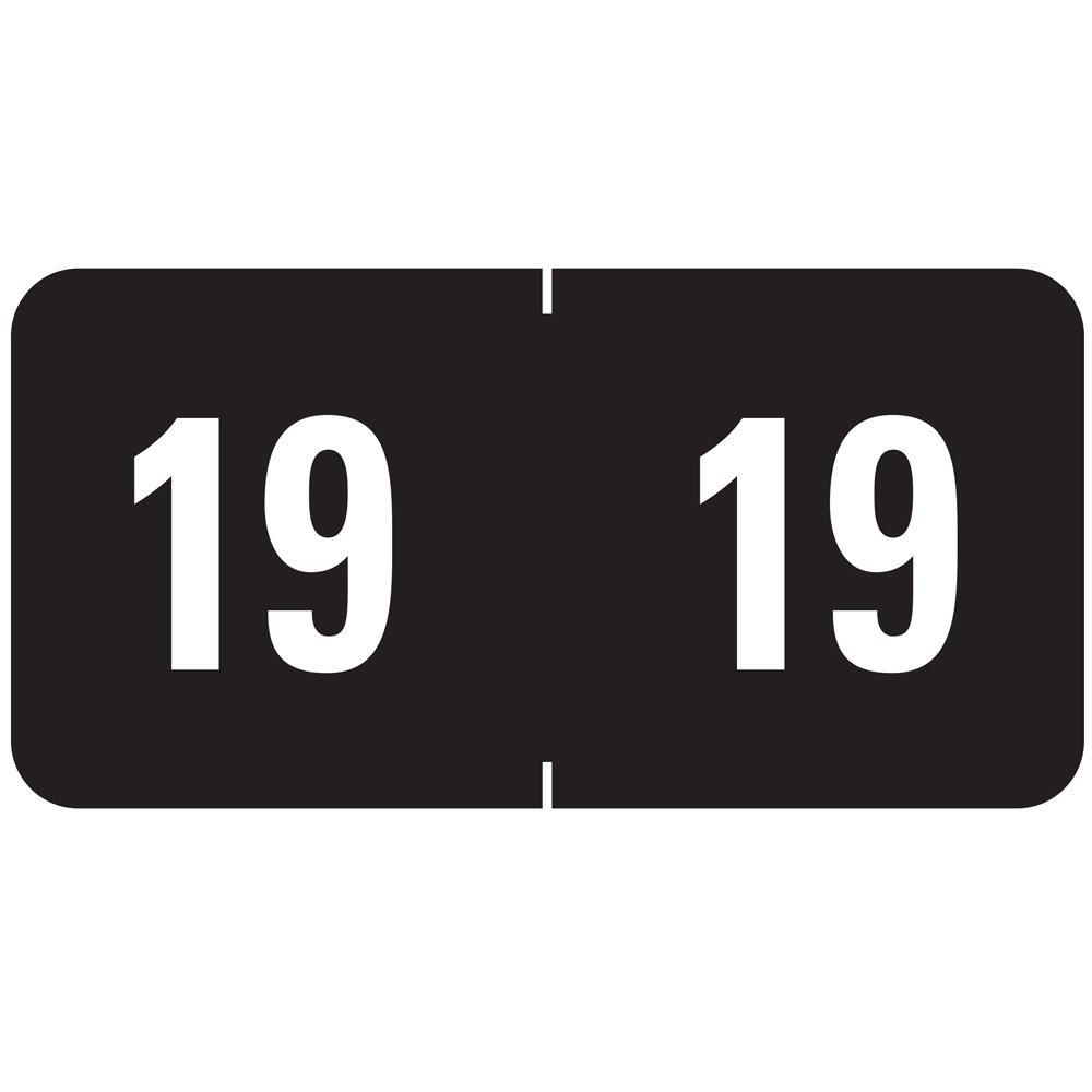 Smead color-coded año año año etiqueta ETS, 2019 etiqueta hoja, negro, 250 por paquete (67919) 49b588