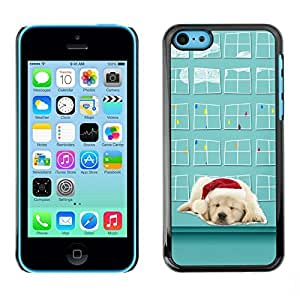 YOYO Slim PC / Aluminium Case Cover Armor Shell Portection //Christmas Holiday Cute Lab Labrador Santa 1305 //Apple Iphone 5C