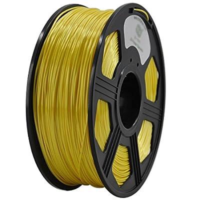 DANITI TECH 3D Printer Filament Silk like Polymer Composite polymer Filament , Diameter Tolerance +/- 0.05 mm, 1 KG Spool, 1.75 mm, silk like filament, red (Yellow)