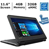 Lenovo N23 2-in-1 Convertible Laptop (2017 ), 11.6 Touchscreen HD IPS Display, Intel Celeron Dual Core Processor up to 2.5 GHz, 4GB RAM, 32GB SSD, Webcam, Bluetooth, Windows 10 Professional