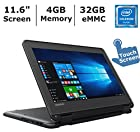 Newest Black Flip design Lenovo 11.6-inch Touchscreen 2-in-1 Business Laptop, Intel Celeron N3060