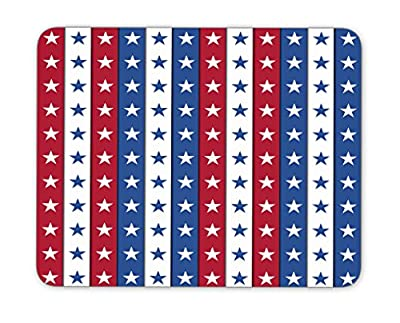 4th of July independence day mouse pad,Natural Rubber Mouse Pad, Quality Creative Wrist-protected Wristbands Personalized Desk, Mouse Pad (9.5 inch x 7.9 inch)