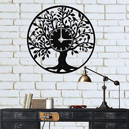 DEKADRON Life Tree Unique Design Metal Wall Clock