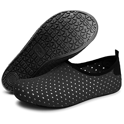 Barerun Unisex Comfy Water Shoes Barefoot Skin Shoes for Run Dive Surf Swim Beach Yoga 8.5-9.5 M US Women 7-7.5 M US Men