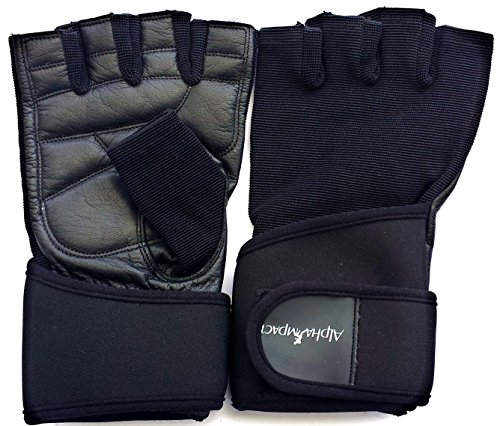 Alpha Impact Weight Lifting Gloves with Premium Leather Palm and Adjustable Wrist Support. Ideal for Crossfit, Gym, Fitness and Your Daily Workout! (Medium)
