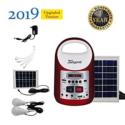soyond Portable Solar Generator with Solar Panel Solar Powered Generator Inverter Small Basic Portable Electric Generator Kit, Solar Lights for Home, Camping, Power for Solar Fans, 1-Year Warranty