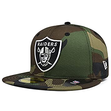 Amazon.com   Oakland Raiders New Era NFL Woodland Camo 59Fifty Fitted Hat    Sports   Outdoors 0206821fcb7