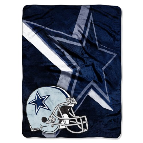 "The Northwest Company Officially Licensed NFL Dallas Cowboys Bevel Micro Raschel Throw Blanket, 60"" x 80"""