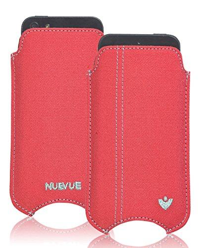 NueVue Housse en tissu pour iPhone 4/4S Motif rose Corail