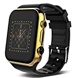 Business Smart Watch Mobile Phone Wristband Card Call Camera Bluetooth 4.0 Sleep Monitor Multi-Function Watch , golden