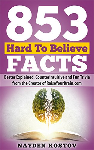 853 Hard To Believe Facts: Better Explained, Counterintuitive and Fun Trivia from the Creator of RaiseYourBrain.com (Paramount Trivia and Quizzes Book 3)