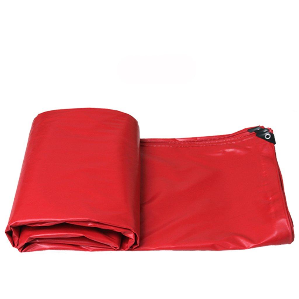 パッド入り防水雨布キャノピー屋外日除け日焼け止めトラック (色 : Red, サイズ さいず : 4*3m) B07F5NQ2FD 4*3m|Red Red 4*3m