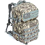 Military Tactical Backpack Large Assault Pack 3 Day Army Rucksacks Outdoor Hunting Backpacks 42L (ACU-1)