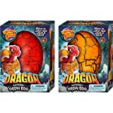 JA-RU Easter Egg Toy XXL Magic Grow Dragon Hatching Eggs Toy (1 Assorted Egg) Party Toys Easter Gifts for Boys and Girls Party Favor. Dino Eggs That Hatch. Bath Growing Toy. | Item #4604-1A