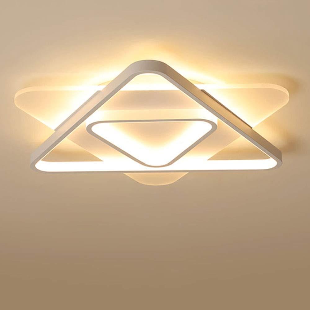 モーデンLEDシーリングランプ|マウサー アクリルシーリングライト|リビングルームキッチンベッドルームダイニングルームオフィスのシーリングライト室内照明用  Warm light 53cm B07SKGTJKL