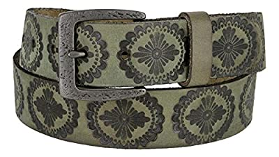 Jessie's Vintage Western Casual Full Grain Leather Jean Belt for Women