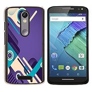 YiPhone /// Prima de resorte delgada de la cubierta del caso de Shell Armor - trullo púrpura bucle zapatos de diseño abstracto - Motorola Moto X3 3rd Generation