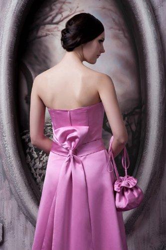 Elegante BRIDE neue lange Entwurfs Fuchsie mit AbendKleid Einfache Schleife GEORGE 61O5wq5