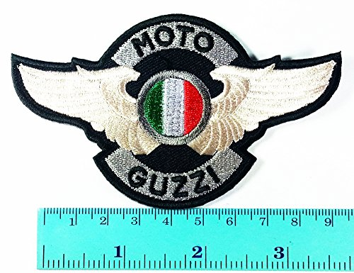 Moto Guzzi Patch Motorbike Motorsport Motorcycles Biker Racing Logo Patch Sew Iron on Jacket Cap Vest Badge Sign