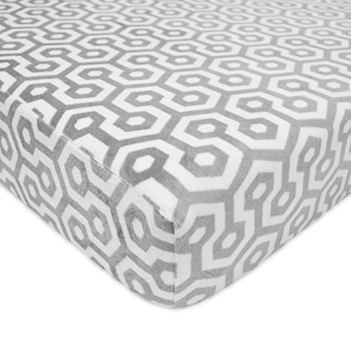 American Baby Company Heavenly Soft Chenille Fitted Crib Sheet for Standard Crib...