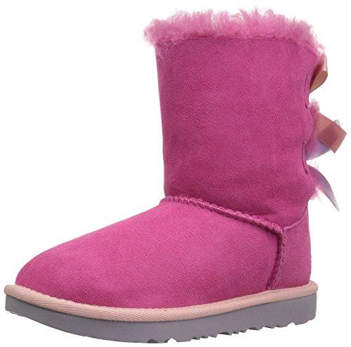 UGG Kids K Bailey Bow II Pull-on Boot, Pink Azalea/Icelandic Blue, 13 M US Little Kid