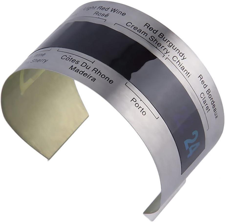 rongweiwang Vino de Acero Inoxidable LCD el/éctrico Vino Tinto Vino Tinto term/ómetro Digital term/ómetro del Metro de 4-24 Grados cent/ígrados de Temperatura Rango