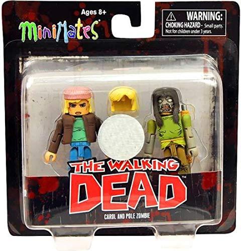 Walking Dead Minimates Series 3 Exclusive Mini FIgure 2-Pack Carol /& Pole Zombie