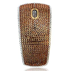 Golden Crystal Rhinestone Wireless Arc Foldable Optical Mouse