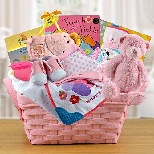 Pampered Girl Gift Basket (Send New Baby Gift Basket)