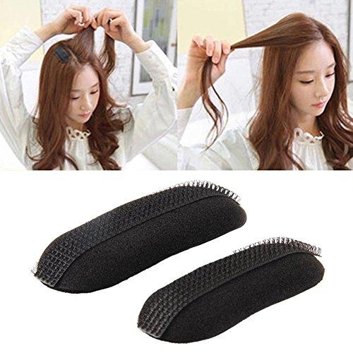 Hair Bump it Up Volume Hair Insert Clip Hairpin Marking style Tool Bun Maker DIY 2 PCS(Black)