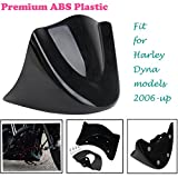 Lower Front Chin Spoiler Air Dam Fairing Cover For Harley Dyna Models 2006-Up Gloss Black