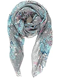 Scarf for Women Lightweight Floral Flower Fashion Fall Winter Scarves Shawl