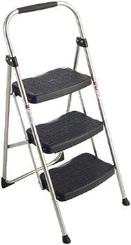 Escalera De Tijera, Escalera Doméstica De Hierro De 3 Pasos Escalera Ancha Escalera Plegable Adecuado Para Oficina En El Hogar Carga 102 Kg: Amazon.es: Bricolaje y herramientas
