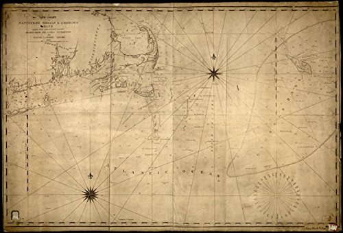 Map: 1813 A new chart of Nantucket Shoals & George's Bank with the adjacent coast|Atlantic Coast NY|Atlantic Coast New England|Atlantic Coast New York State|Georges Bank|Massachusetts|Nantucket Shoals