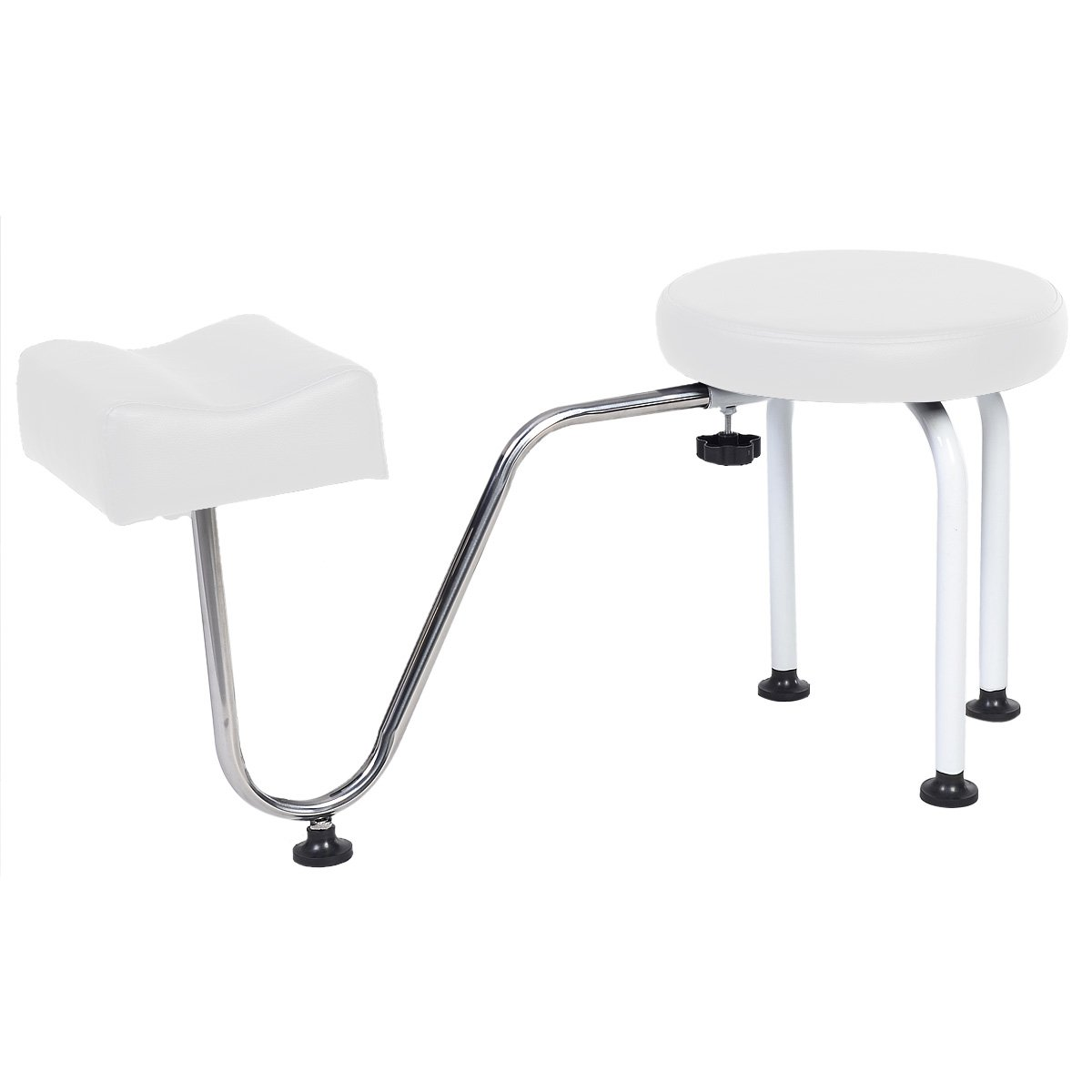 Costway Pedicure Nail Stool Station Manicure Tattoo Foot Footrests Adjustable Leg Rest Chair Kit (Black)