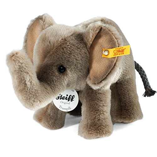 Steiff Trampili Elephant Plush, Grey