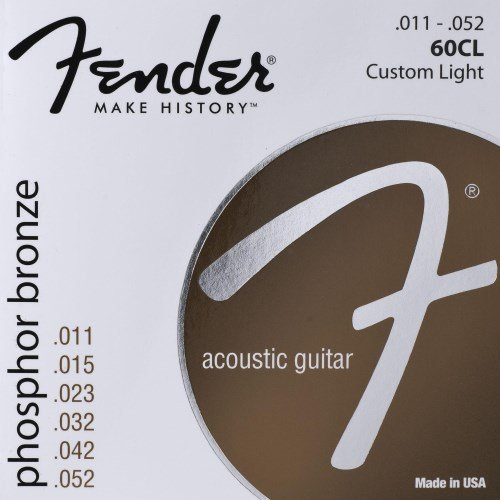 Fender 60CL Phosphor Bronze Ball End .011-.052, Acoustic Guitar Strings