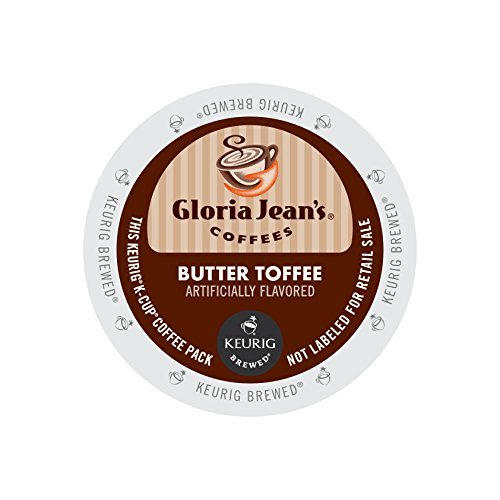 Gloria Jean's Butter Toffee KCups 96ct Flavored (Gj K-cup)
