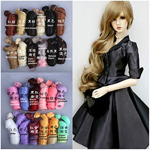 PHSFUBEL Wigs for BJD SD Doll Modified with High Temperature Silk Hair Row 15cm Roman Volume Thickening Upgrade -