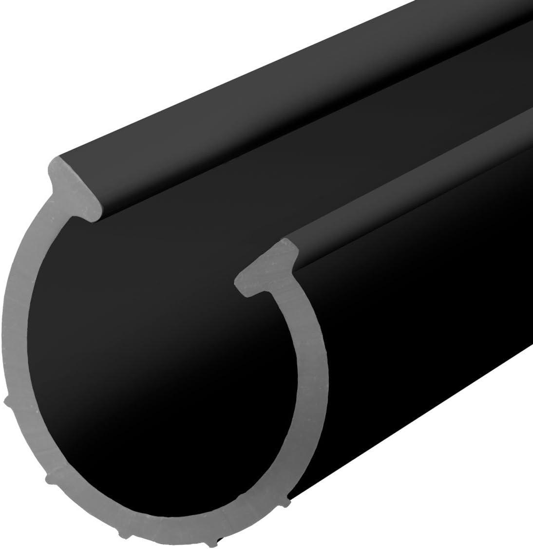 STEIGNER Junta para la Puerta de Garaje SBD02 Negra PVC 70x6 mm, 3 m