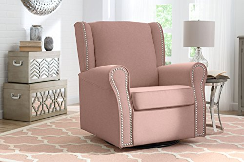 Amazon.com : Delta Furniture Middleton Upholstered Glider Swivel ...
