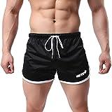 Men Solid Sport Shorts Swim, Male Summer Sweat-Absorbing Breathable Running Training Short Pants