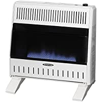 Sure Heat BWH30NLTE Dual Fuel Flame Wall or Floor Mount Heater, 30K BTU, Beige/Tan/Blue