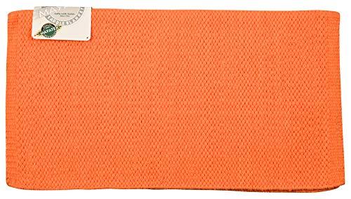 Mayatex Kashmilon Solid Saddle Blanket, Orange, 36 x 34-Inch ()