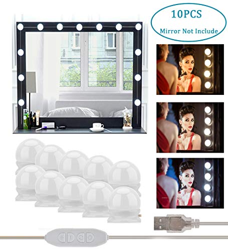 Vanity Mirror Lights Hollywood Style LED Lights for Mirror, AUSHEN Makeup Mirror -