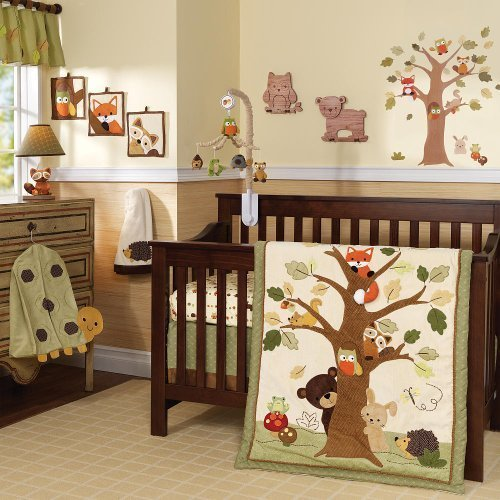 Lambs & Ivy 7 Piece Crib Set - Echo