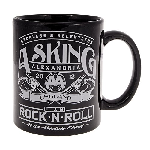 Asking Alexandria Rock N' Roll Boxed Aa Mug Black (Alexandria Double Handle)