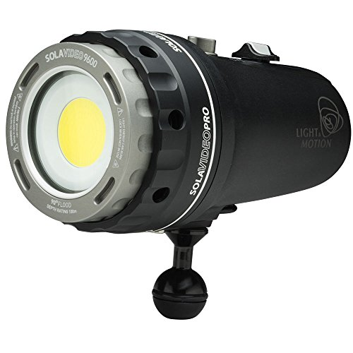Light & Motion SOLA Video Pro 9600 FC Underwater Light, Black/Titanium by Light and Motion